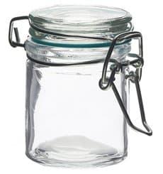 Mini Bocal en Verre Hermétique 45 ml Ø4,5x6 cm (96 Utés)