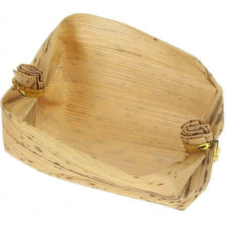 Mini Panier Bambou Dégustation 3,8x5,8x3,8cm (500 Utés)