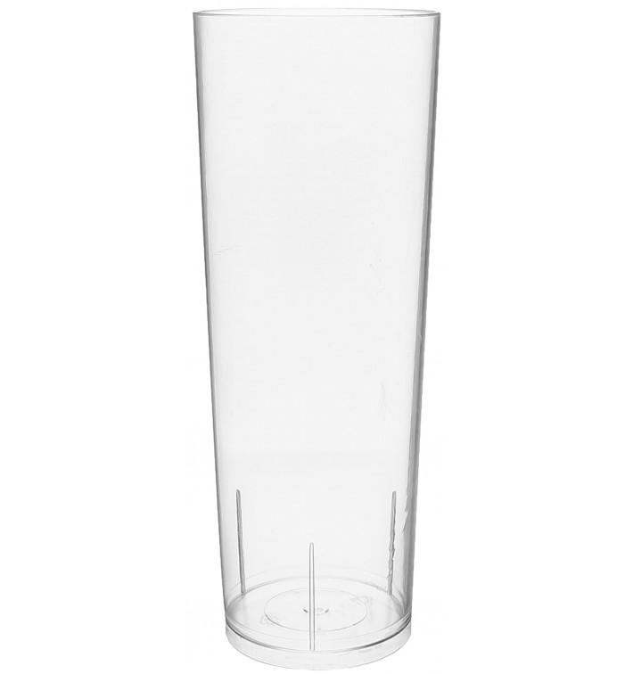 Verre Tube 300ml Transparent Cristal PS (10 Unités)