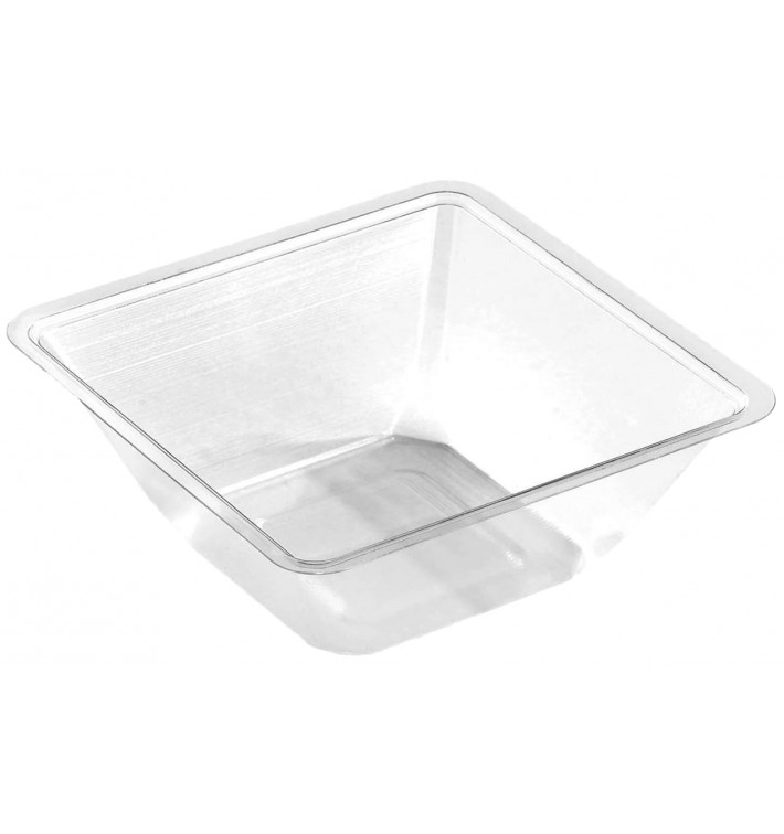 Bol mini en Plastique PET Thermo-Scellable 175ml 90x90x40mm (50 Utés)