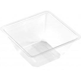 Bol mini en Plastique PET Thermo-Scellable 250ml 90x90x60mm (50 Utés)
