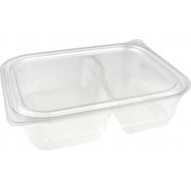 Récipient Plastique 2C PET 220/280ml 18x15x4cm (75 Utés)