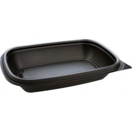 Barquette Plastique PP Noir 375ml 20x13x4cm 375ml (50 Utés)