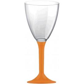 Flûte Plastique Vin Pied Orange 180ml 2P (200 Utés)