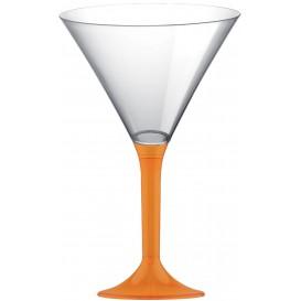 Flûte Plastique Cocktail Pied Orange 185ml 2P (200 Utés)