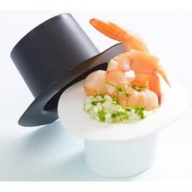 """Chapeau Dégustation""""Hot Form"""" Blanc PP 60ml (24 Utés)"""