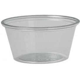 Pot à Sauce Plastique rPET Cristal 60ml Ø6,6cm (250 Utés)