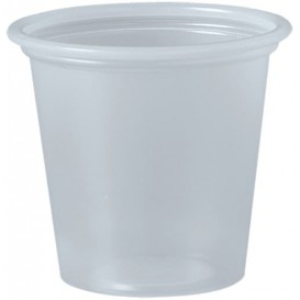 Pot à Sauce Plastique PP Trans. 35ml Ø4,8cm (2500 Utés)