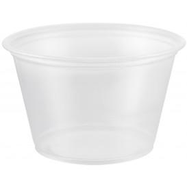 Pot à Sauce Plastique PP Trans. 120ml Ø7,3cm (2500 Utés)