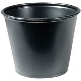 Pot en Platique PP à Sauce Noir 165ml Ø73mm (125 Unités)