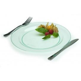 Fourchette argentée en plastique 15 cm (50 unités)