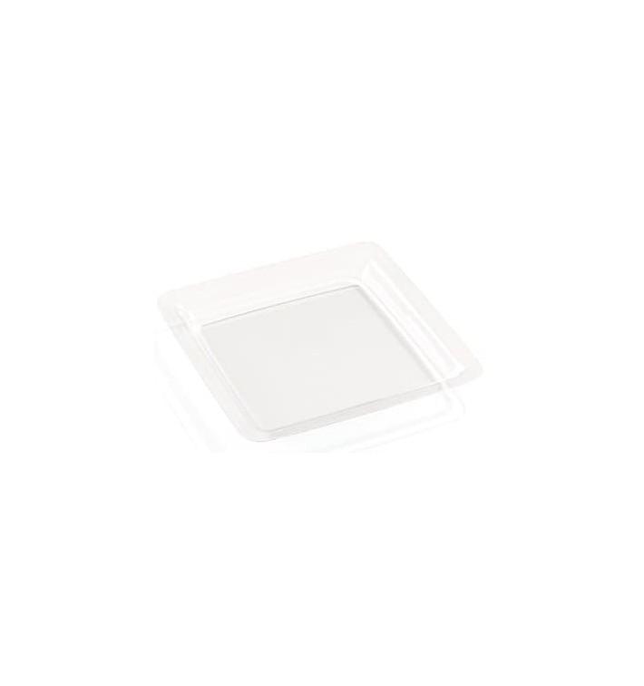Assiette Transparente Plastique Dur 18x18 cm (6 Utés)