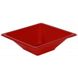 Bol carré en plastique rouge 120x120x40mm (1500 Utés)