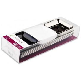 Kit Dégustation Plastique Assiette et Plateau 20 pièces (1 Kit)