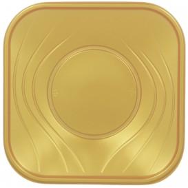 """Assiette Plastique PP """"X-Table"""" Or 180mm (8 Utés)"""