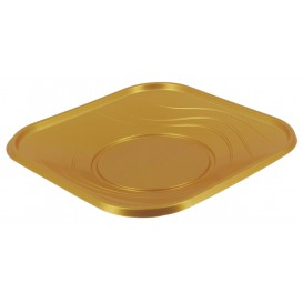 "Assiette Plastique PP ""X-Table"" Or 180mm (8 Utés)"