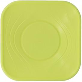 """Bol Plastique PP """"X-Table"""" Citron vert 180x180mm (120 Utés)"""