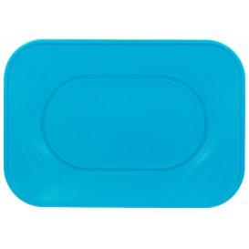 Plateau Plastique Turquoise PP 330x230mm (60 Unités)