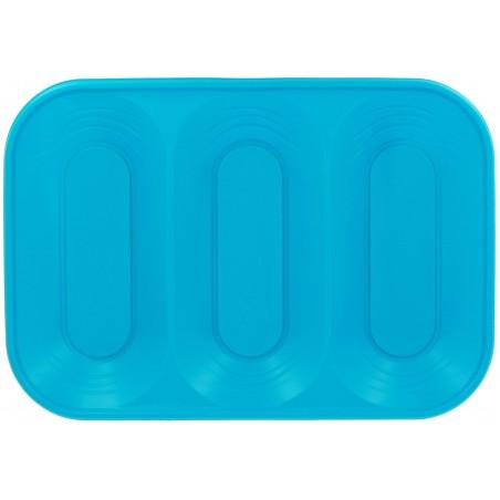 Plateau Plastique 3C Turquoise PP 330x230mm (2 Unités)