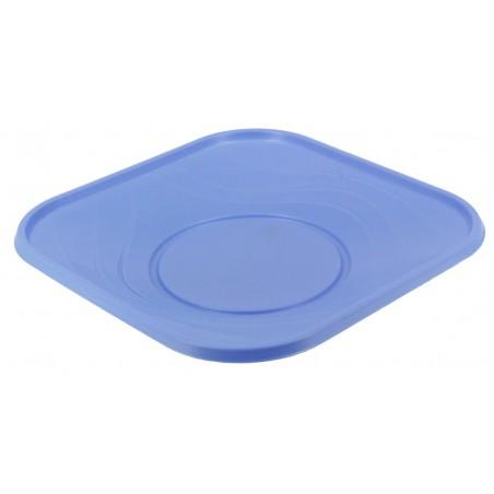Assiette Plastique Carré Plate Turquoise PP 180mm (8 Unités)