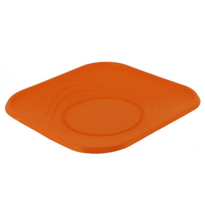 """Assiette Plastique PP """"X-Table"""" Orange 230mm (8 Utés)"""