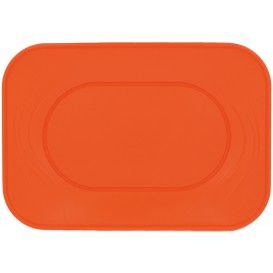 "Plateau Plastique PP ""X-Table"" Orange 330x230mm (2 Utés)"