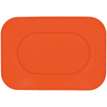 Plateau Plastique Orange PP 330x230mm (2 Unités)