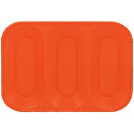 "Plateau Plastique PP ""X-Table"" 3C Orange 330x230mm (2 Utés)"
