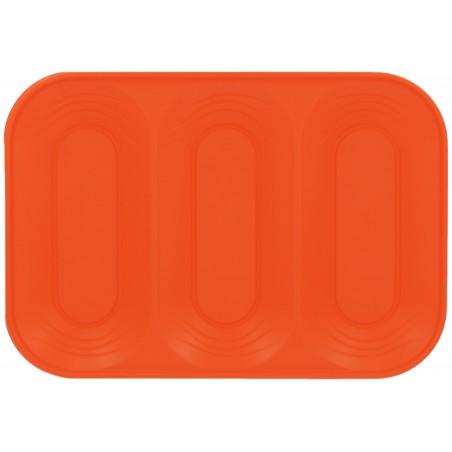 """Plateau Plastique PP """"X-Table"""" 3C Orange 330x230mm (2 Utés)"""