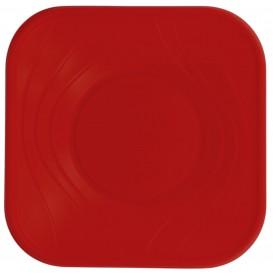"""Assiette Plastique PP """"X-Table"""" Rouge 230mm (120 Utés)"""