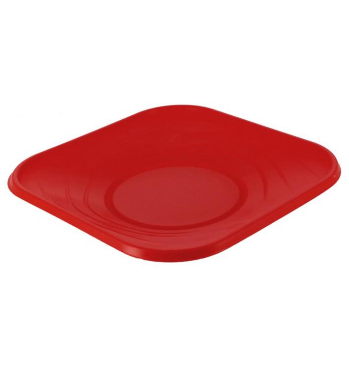 """Assiette Plastique PP """"X-Table"""" Rouge 180mm (8 Utés)"""