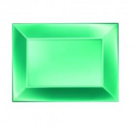 Plateau Plastique Plat Vert Nice Pearl PP 280x190mm (240 Utés)