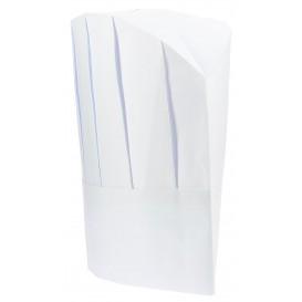 Toque Cuisinier Continental Papier Blanc (100 unités)