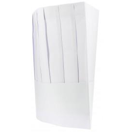 Toque Cuisinier Chef Papier Blanc (10 unités)
