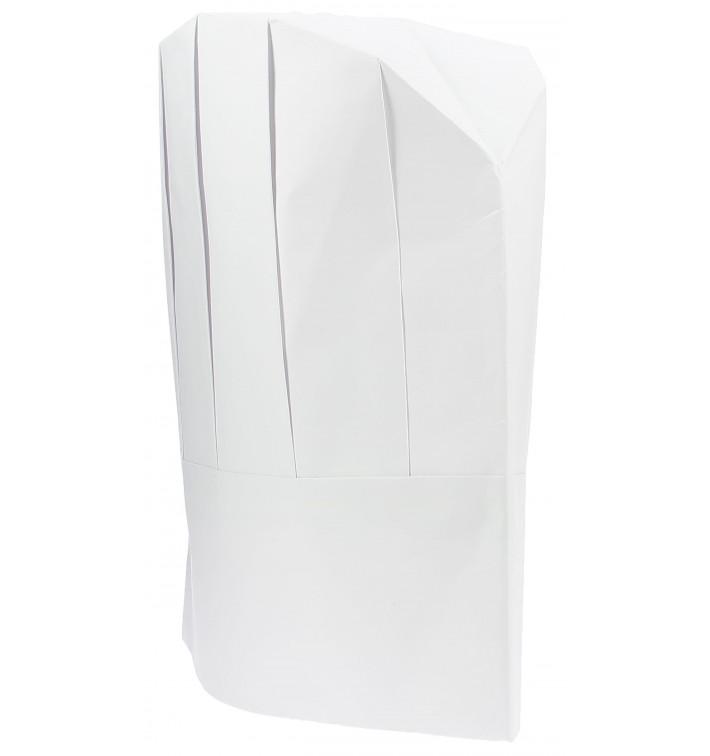 Toque Cuisinier Continental Enfant Papier Blanc (400 unités)