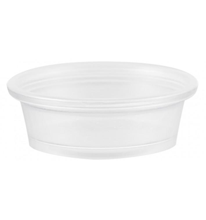 Pot à Sauce Plastique PP Trans. 15ml Ø4,8cm (125 Utés)