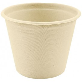 Pot en Canne à Sucre Naturel Ø114mm 500ml (1000 Utés)