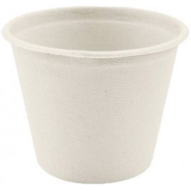 Pot Bio en Canne à Sucre Blanc Ø110mm 450ml (50 Utés)