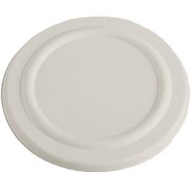 Couvercle en Canne à Sucre Blanc pour Pot 450ml Ø110mm (600 Utés)