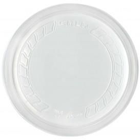 """Couvercle Plastique PP """"Deli"""" Translucide Ø120mm (500 Unités)"""