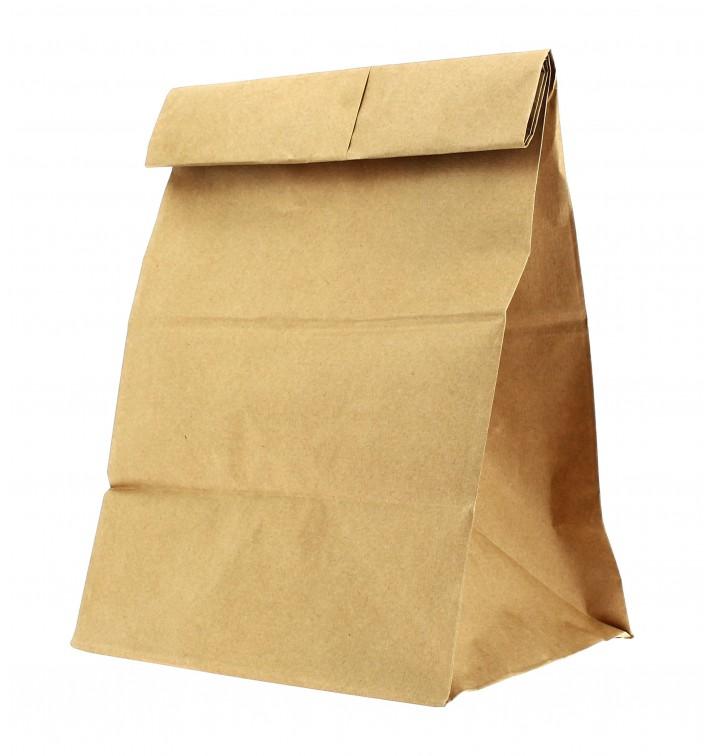 Sac en papier Kraft sans anses 18+11x34cm (25 Unités)