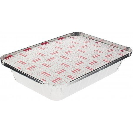 Couvercle Carton Barquette Aluminium 890ml (800 Unités)