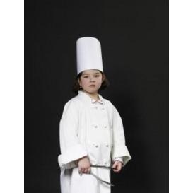 Toque Cuisinier Continental Enfant Papier Blanc (25 unités)