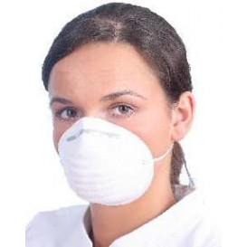 Masque Jetable à coquille en Polypropylène Blanc (50 Utés)
