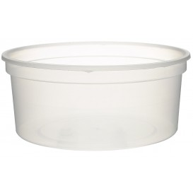 Pot en Plastique Transparent 350ml (Paquet 50Utés)