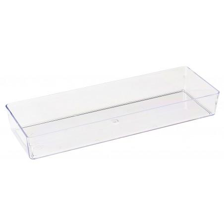 Plat plastique Transparent 4,6x13cm (500 Utés)