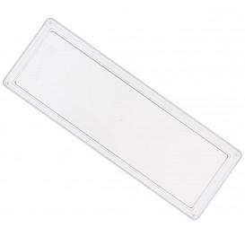 Plat plastique Transparent 4,6x13cm (50 Utés)