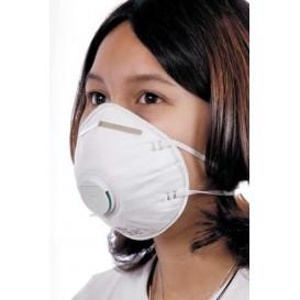 Masque Jetable à Valve FFP2 Blanc (200 Unités)