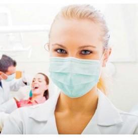 Masque Chirurgical avec élastiques 3 Plis Type IIR Bleu (50 Utés)