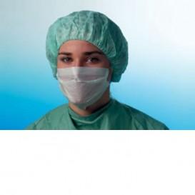Masque Chirurgical avec élastiques 3 Plis Type I Bleu (50 Utés)